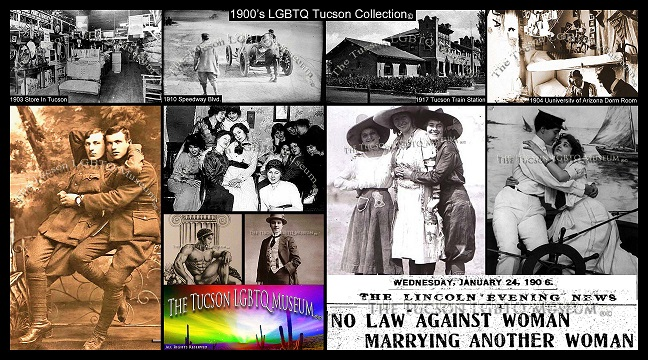 1900's 1910's Gay LGBTQ Exhibit Copyrighted Tucson Gay LGBT LGBTQ Queer Museum